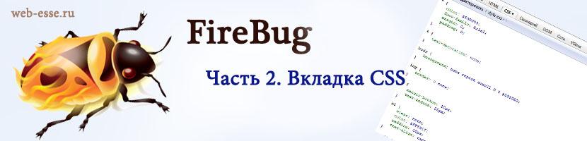 Инструкция FireBug - вкладка CSS